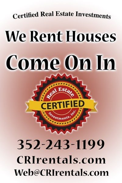 Certified Real Estate Investments Office Sign